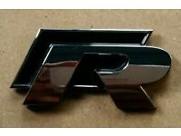 Car badge golf vw r