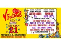 2 times two day tickets for V FEST