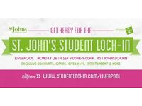 ST JOHNS STUDENT LOCK-IN; LIVERPOOL