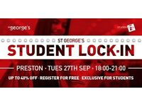 ST GEORGES STUDENT LOCK-IN, PRESTON
