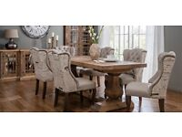 Solid wood table and 6 chairs from cousins