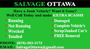 MAKE EXTRA CASH NOW FOR YOUR SCRAP CAR TOP DOLLAR!