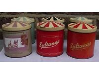 Canisters. Kitchen Storage. Containers. Vintage Tins