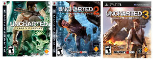 Im looking for Uncharted,God of War, Prince of Persia PS3 games.
