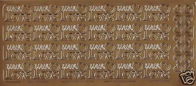 Stickerbogen With Love  für Einladung Zur Hochzeit usw 139 (Bögen Für Hochzeiten)