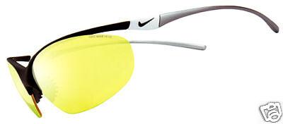Nuevo Nike Odeon Gafas de Sol,Negro Brillante / Max Amarillo Alta Visibilidad