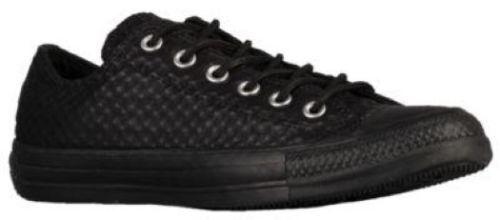 NIB Converse All Star Craft Leather Ox Sneaker Black Blk Sz
