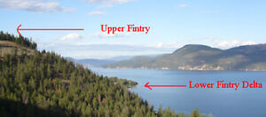 A beautiful Flat lot in Lower Fintry BC
