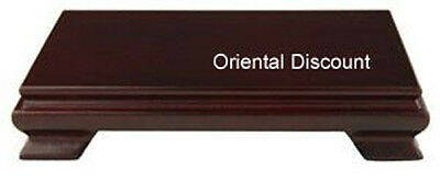 "Decorative Chinese Japanese 8""x5"" Rectangular Display Wooden Stand Base Pediment"