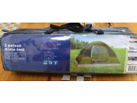 Two person dome tent, ideal for festivals, summer.