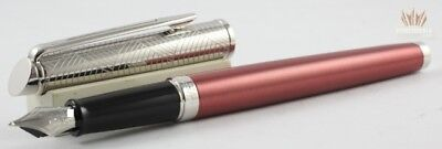 WATERMAN HEMISPHERE 16 LUX ROSE CUIVRE WITH CHROME TRIM FOUNTAIN PEN MAGNIFICENT