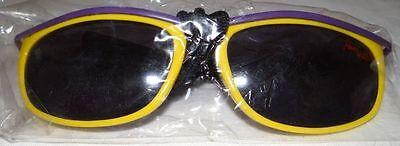 Original Old school Fun Watch Sonnenbrille mit Umhängeband gelb/lila