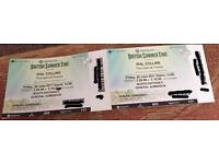 2 GA tix to Phil Collins w/Blondie at British Summer Time in Hyde Park