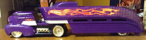 PURPLE HOT WHEELS 2002 STORAGE HAULER TRANSPORT TRUCK 1412DP