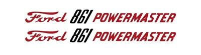 Ford Powermaster 861 Tractor Hood Decal Kit Graphics Stickers Emblem Set Sides
