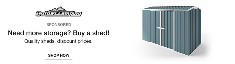 Outbax Camping: Need more storage? Buy a shed! Quality sheds, discount prices
