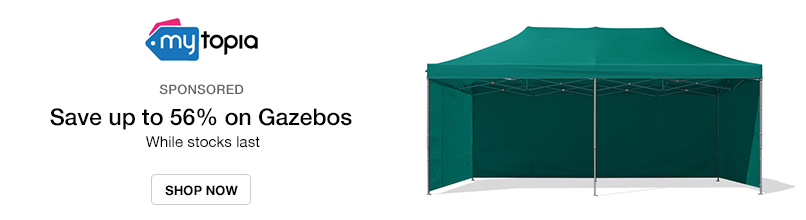 Mytopia: Save up to 56% on Gazebos - While stocks last