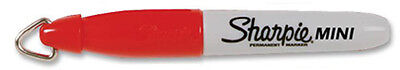 Sharpie Min Red Permanent Marker With Cap Clip Keychain 1971846 New