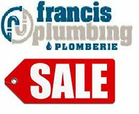 SHOWERS, BATHTUBS, SINKS, TOILETS ON SALE!