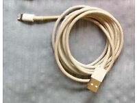 Used Genuine Apple USB Data Cable For iPhone 5, 5s, 6, 6s And 6s Plus ***PLEASE READ***