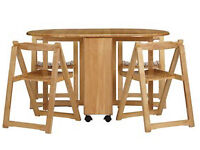 s Butterfly Folding Dining Table and Four Chairs