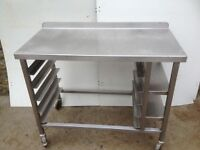 bakery work top with tray slots