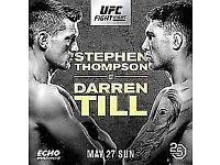 UFC Fight Night - Thompson vs Till - Lower Tier Row A Single Ticket - Less Than Face