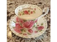Royal Albert Flower of the month series NOVEMBER Cup & Saucer