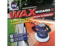 Wax Wizard 3 Car Waxer & Polisher 3 Pads Home Valet