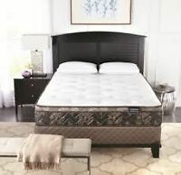 WholeHome Cambridge III Queen size mattress and boxspring