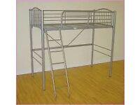 Ikea Svarta Loft Bed in Grey Metal
