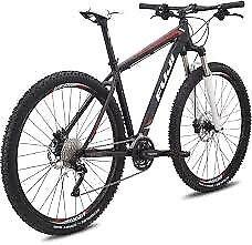 Fuji 29er mountain bike, black and red