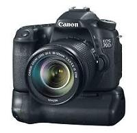 Canon EOS 70D DSLR Battery Grip + 2 Loader charger 100% NEW