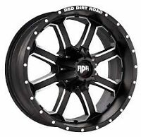 BRAND NEW FULL SET OF 20INCH  RDR WHEELS!!! BLACK AND MACHINE