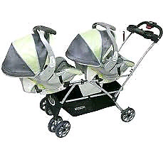 Double snap and go stroller