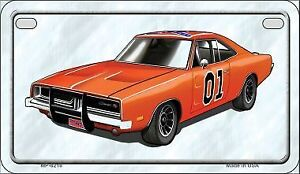 Dukes of Hazard motorcycle dodge charger licence plate--novelty