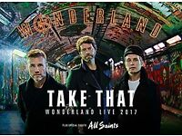 Take That Wonderland tickets x 4 Swansea Liberty
