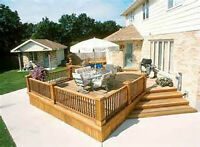 Decks, fencing, retaining walls.