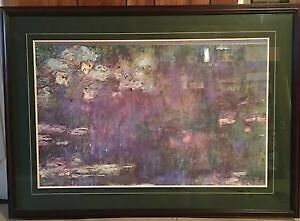 Claude Monet Water Lillies Custom Framed Print -$110