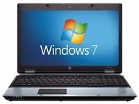 "Core i3 HP 6550B Laptop. 2.4GHZ, 4GB, 320GB HDD,Win 7. 1 Year Warranty.15.6"""