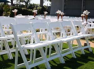 white resin fold up chairs Merewether Newcastle Area Preview