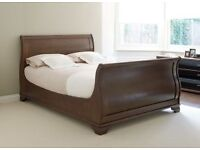 Solid wood Super King size bed