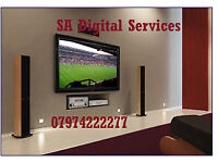 TV wall mounting from £30, Shelving, Cable management, Sound bar Installation and Handymen Services