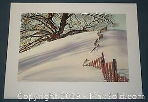 Oswald Schenk Snow Fence limited edition print, s/n