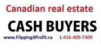 CASH for your Toronto area property FAST closing