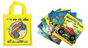 Busy Wheels: Bag Collection - 8 Book Bag Set, Archer, Mandy, Bently, Peter, New