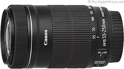 Canon EF-S 55-250mm f/4-5.6 IS STM Lens Brandneu (White Box) (Umpacken)