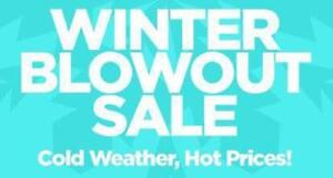BRAND NEW WINTER BLOWOUT SALE - ONE YEAR WARRANTY