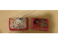 Kids wallet/purses hello kitty and Dora