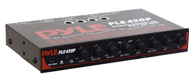 Pyle PLE420P In-Dash 4 Band Parametric Equalizer With Subwoofer Control